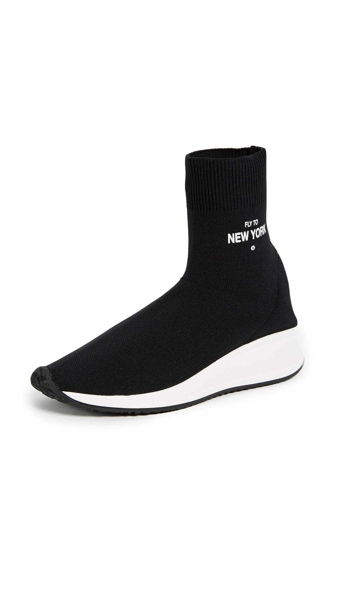 Joshua Sanders Fly to New York Sock Sneakers - Black