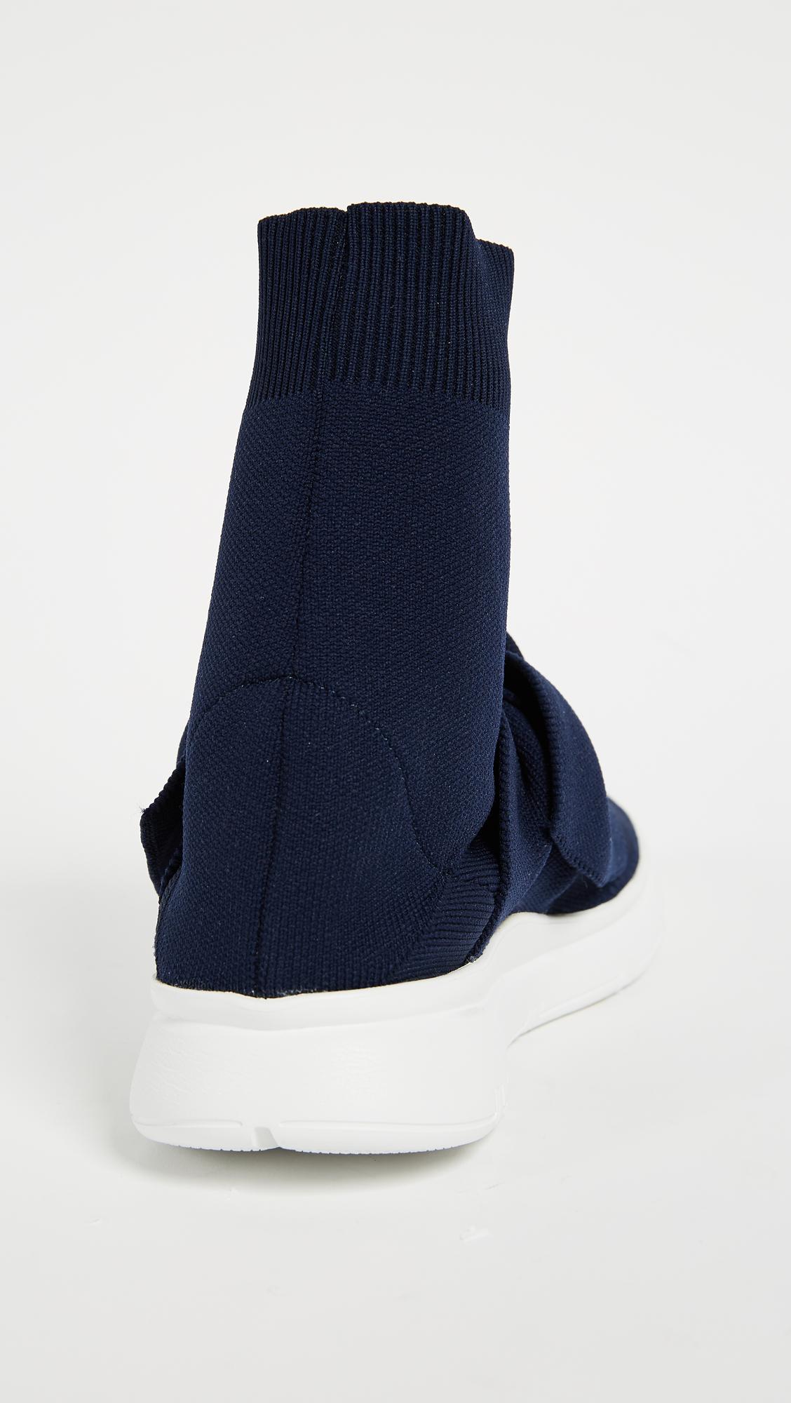 Blue stretch knitted sneakers Joshua Sanders 1Ik2DBr7