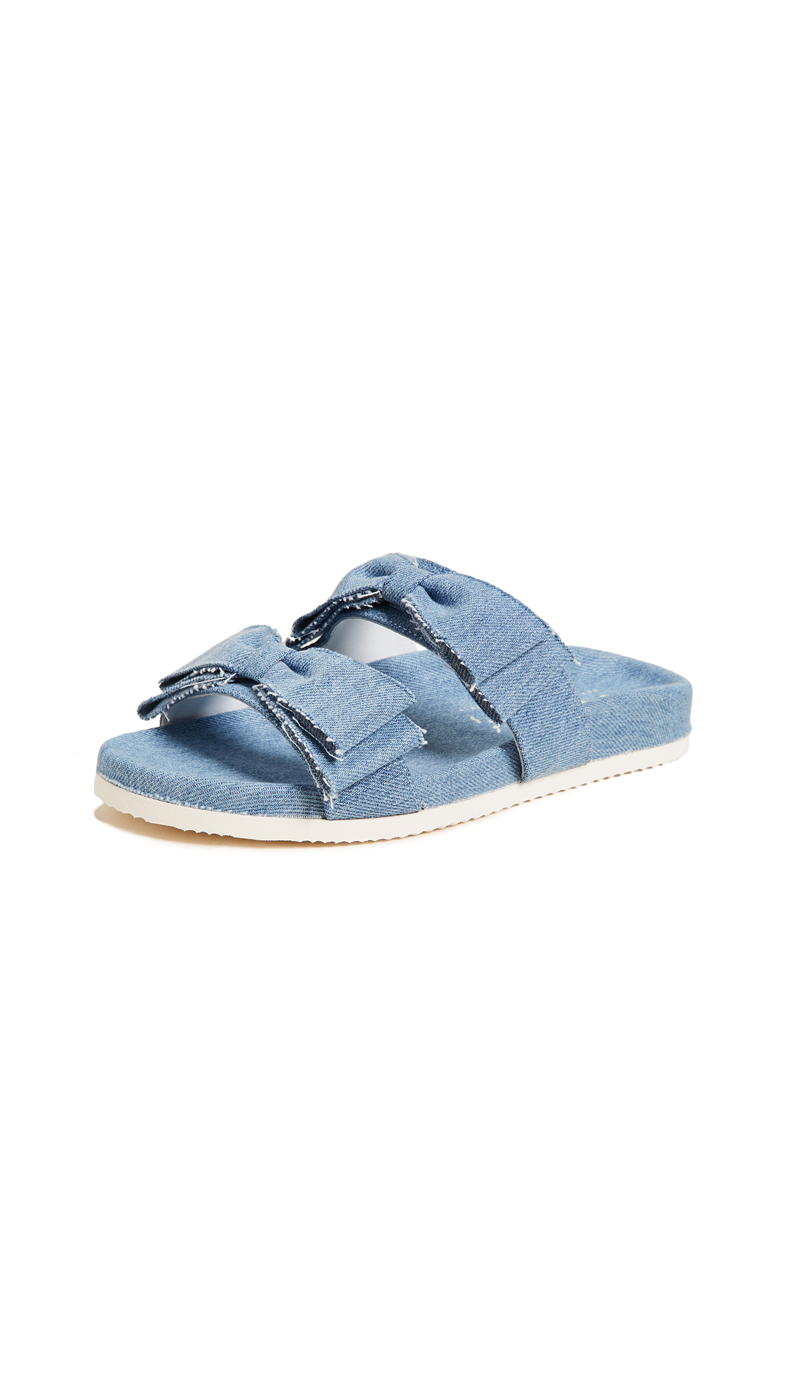 Joshua Sanders Knot Slides - Light Denim