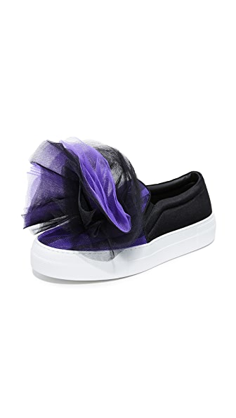 Joshua Sanders Tulle Sneakers In Black/Purple