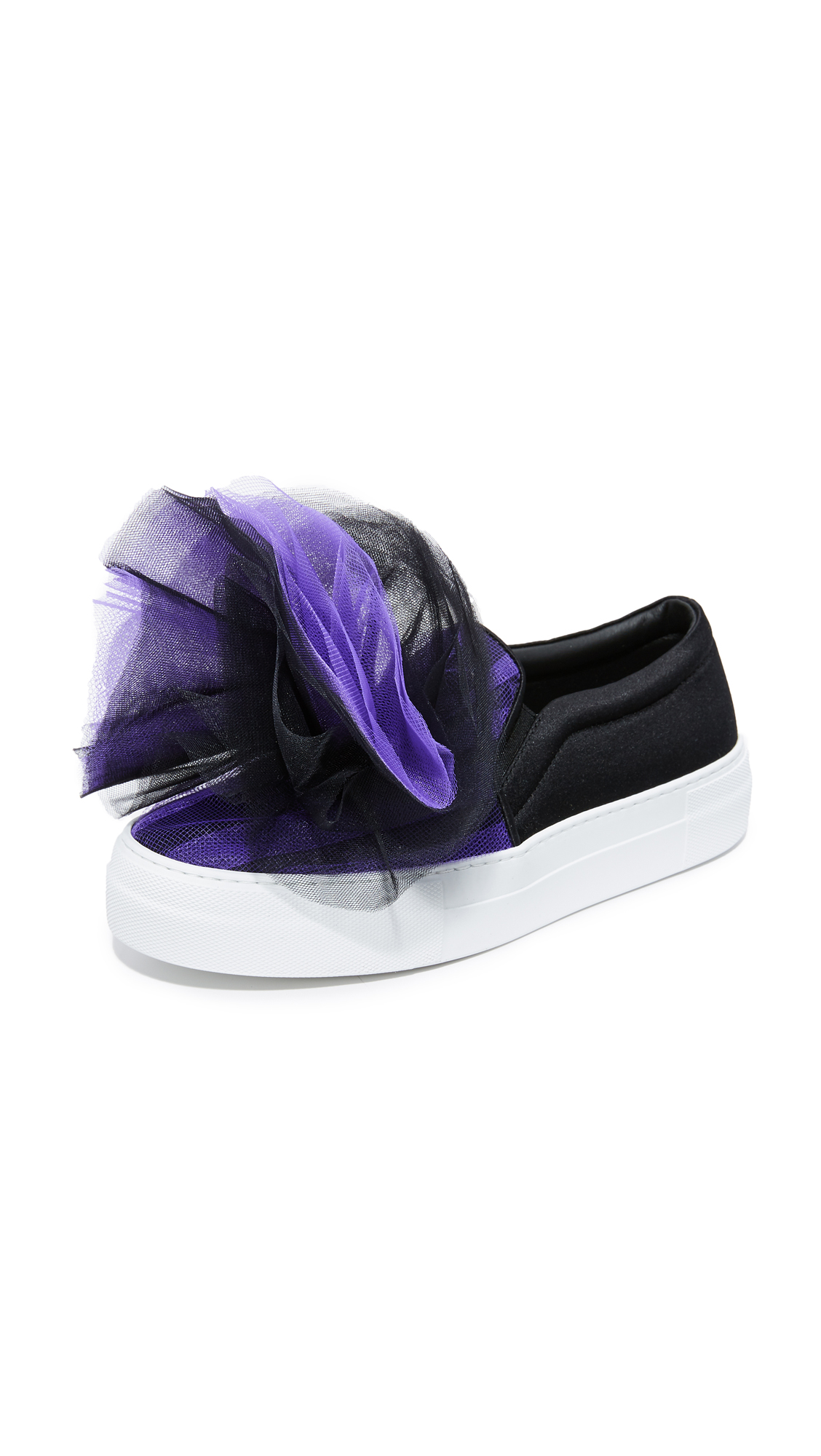 Joshua Sanders Tulle Sneakers - Black/Purple