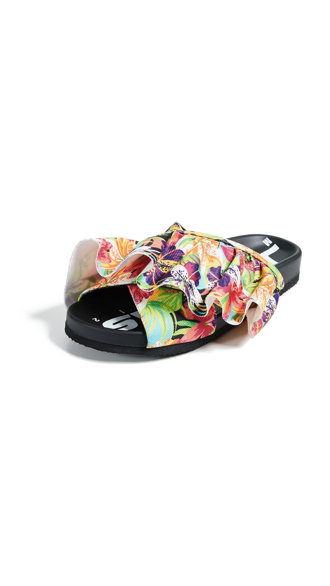 Joshua Sanders Hawaii Slide Sandals - Multicolor Hawaii
