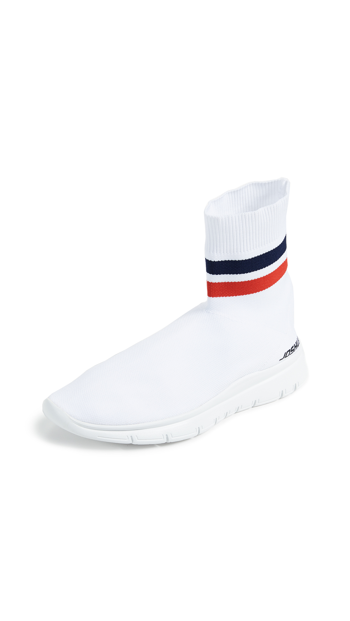 Joshua Sanders Jump Sock Booties - White