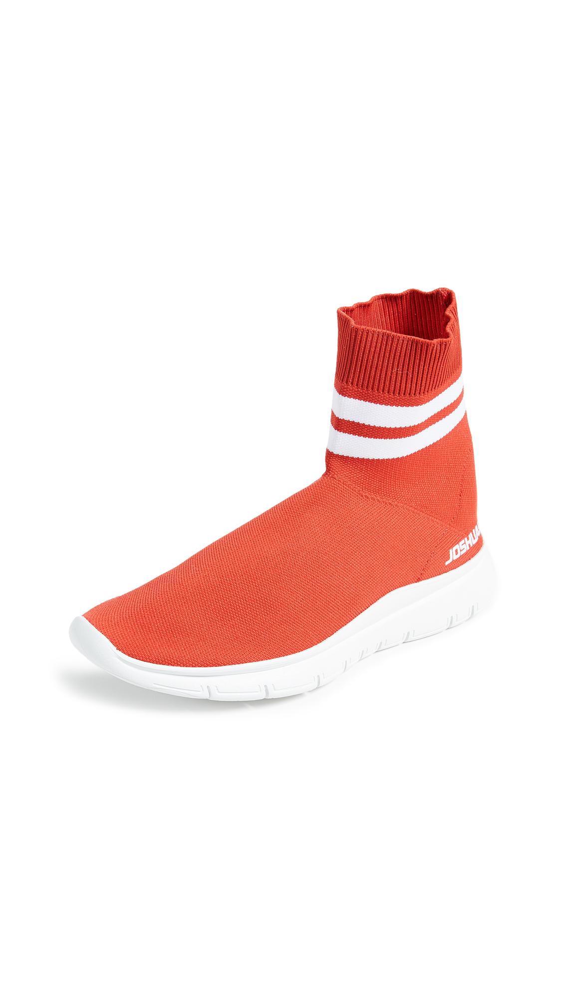 Joshua Sanders Jump Sock Booties - Red