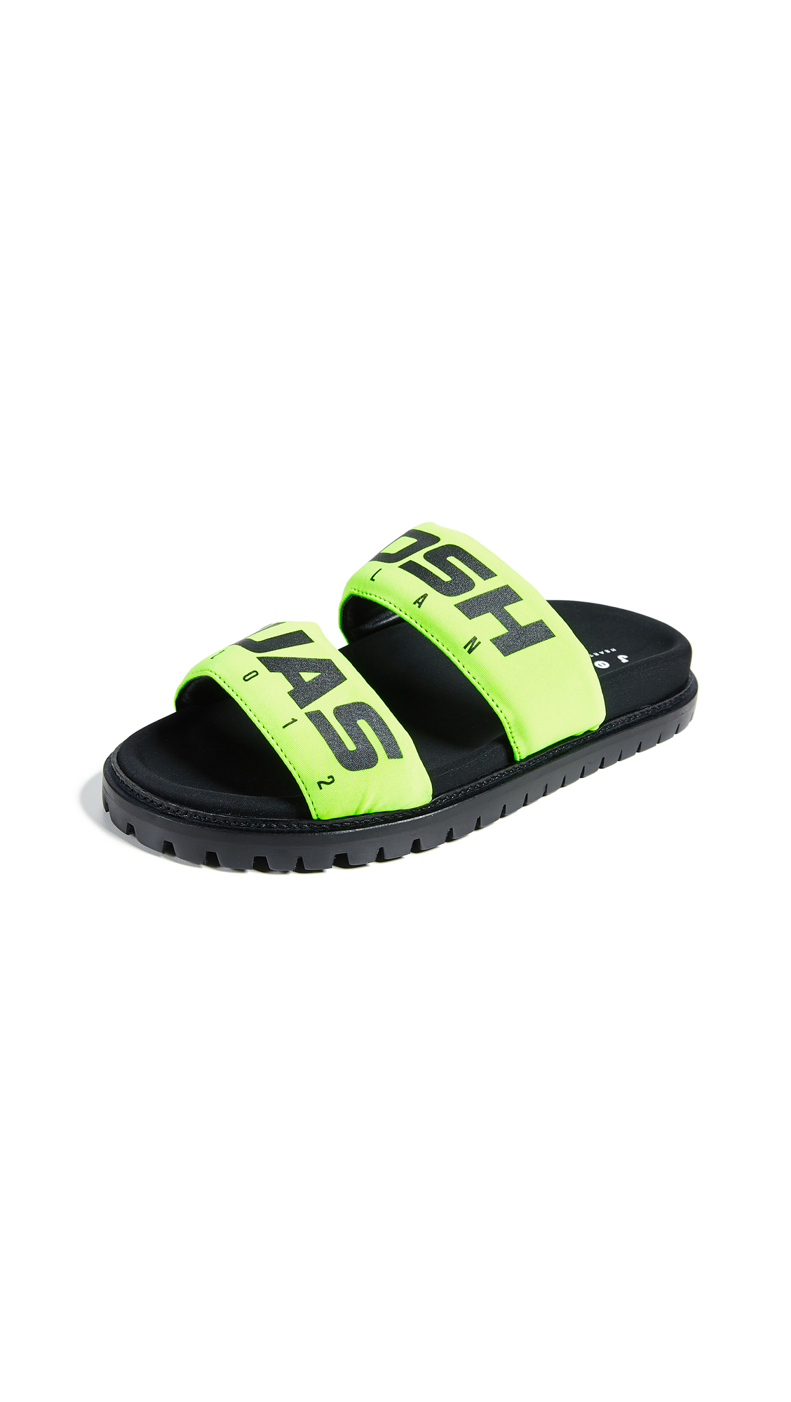 Joshua Sanders Racing Slide Sandals - Yellow Racing