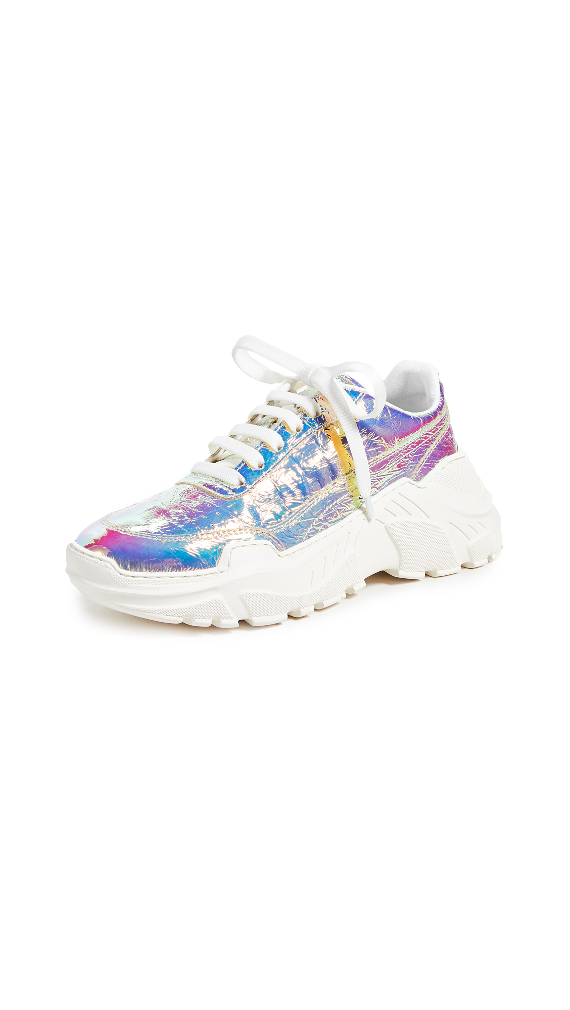 Joshua Sanders Zenith Lace Up Sneakers - Light Holo