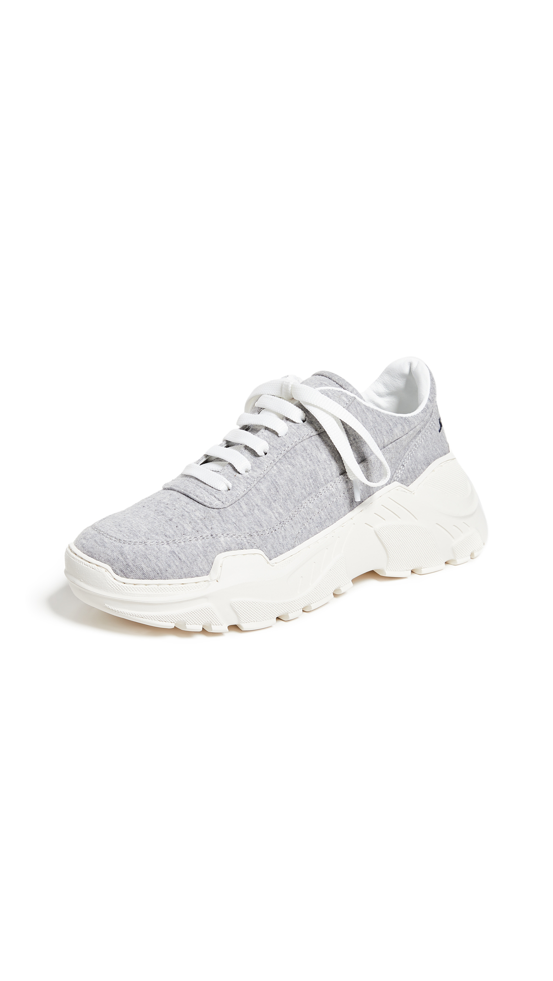 Joshua Sanders Zenith Lace Up Sneakers - Grey Jersey