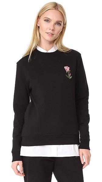 JOUR/NE Rose Sweatshirt In Black