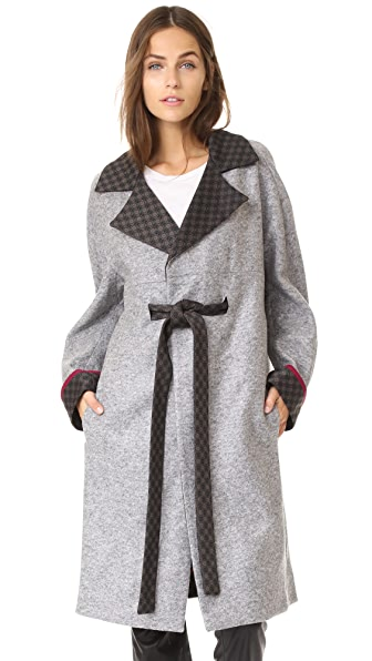 JOUR/NE Jersey Coat In Grey