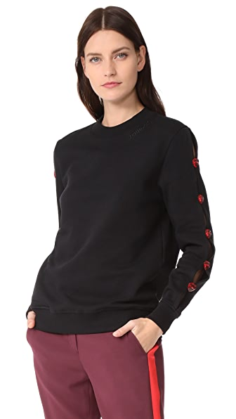 JOUR/NE Pullover with Buttons - Black
