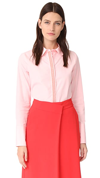 JOUR/NE Ribbon Blouse In Baby Pink