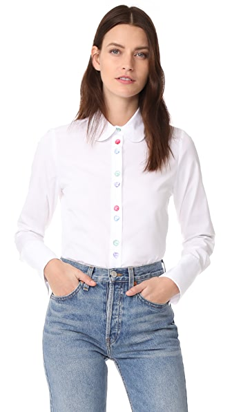 JOUR/NE Shirt with Buttons In White