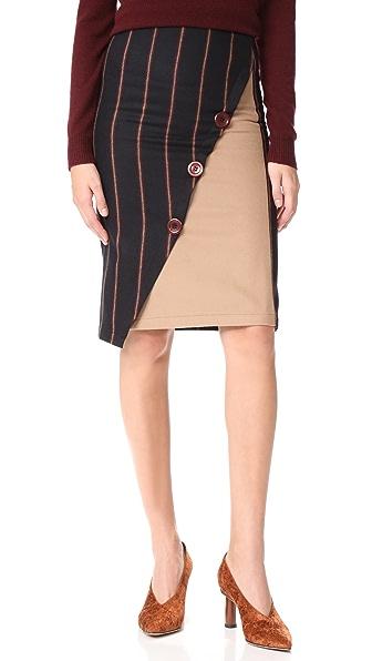 JOUR/NE Striped Skirt