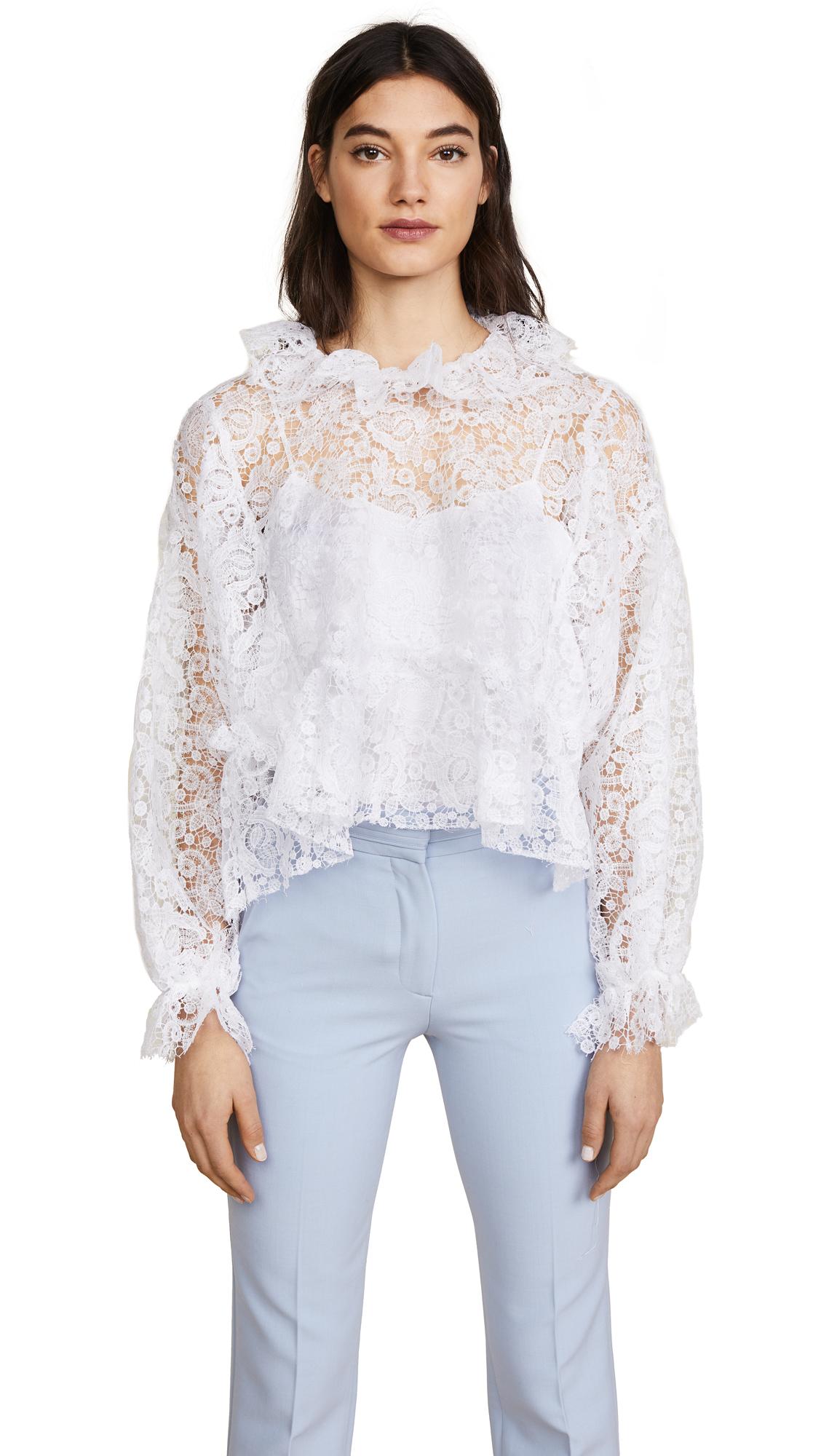 Jourden White Lace Blouse