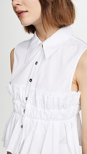Jourden Smocked Crop Shirt