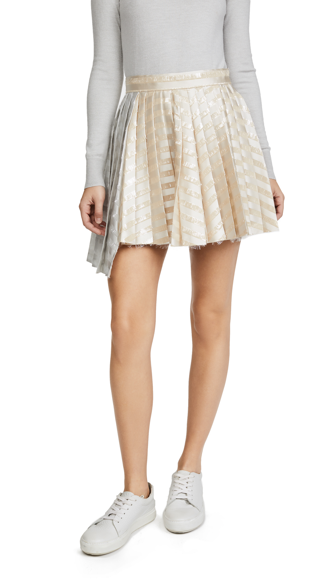 Jourden Gel Asymmetric Skirt In Champagne Multi