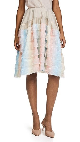 Jourden Unicorn Gathered Knee Skirt
