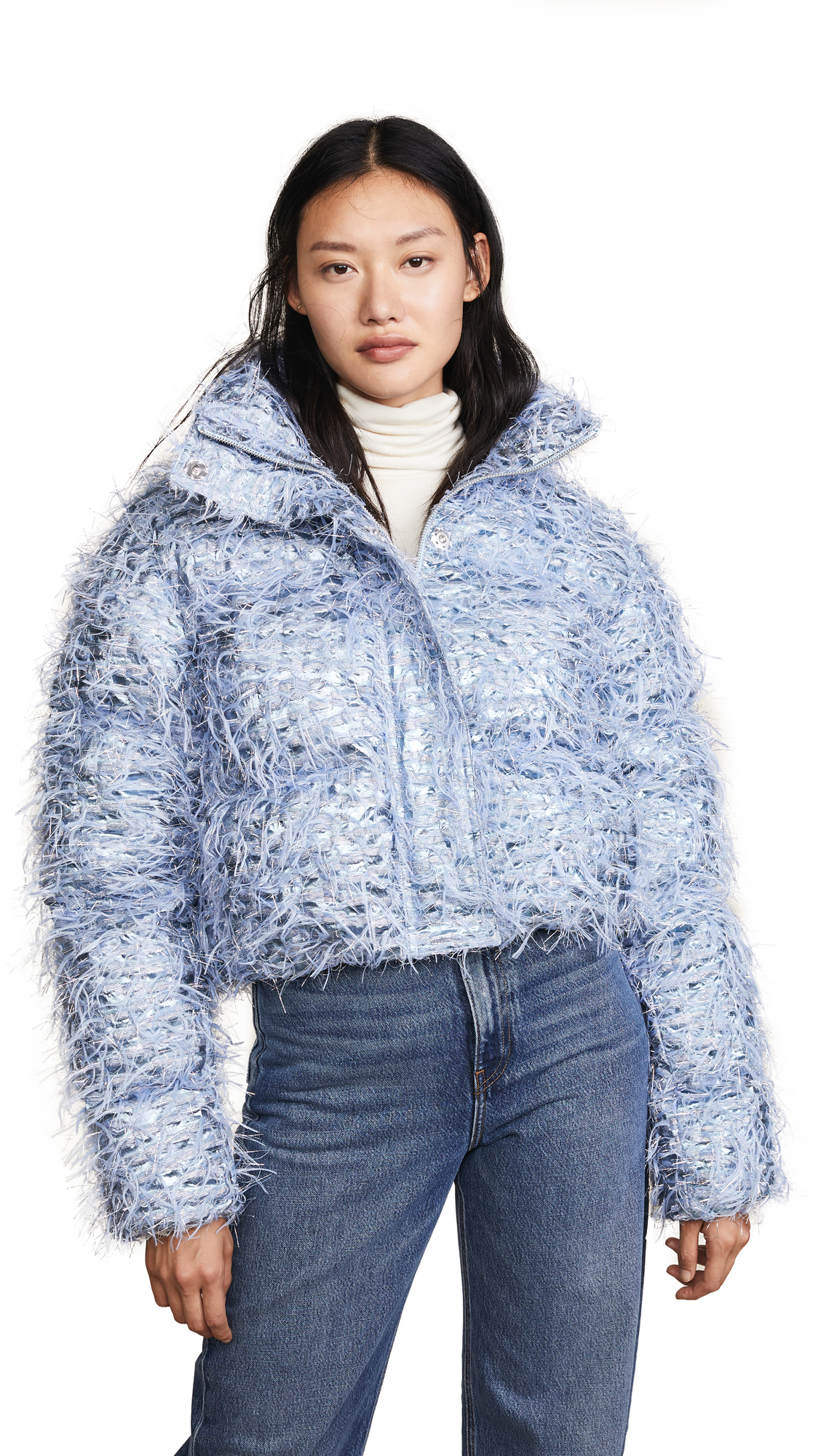 JOURDEN Kira Confetti Puffer Jacket in Blue