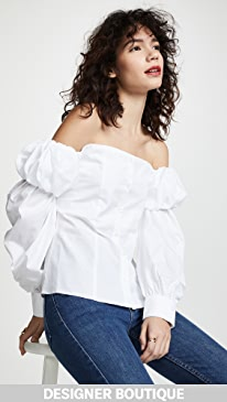 Jourden Off Shoulder Poplin Top Top Reviews