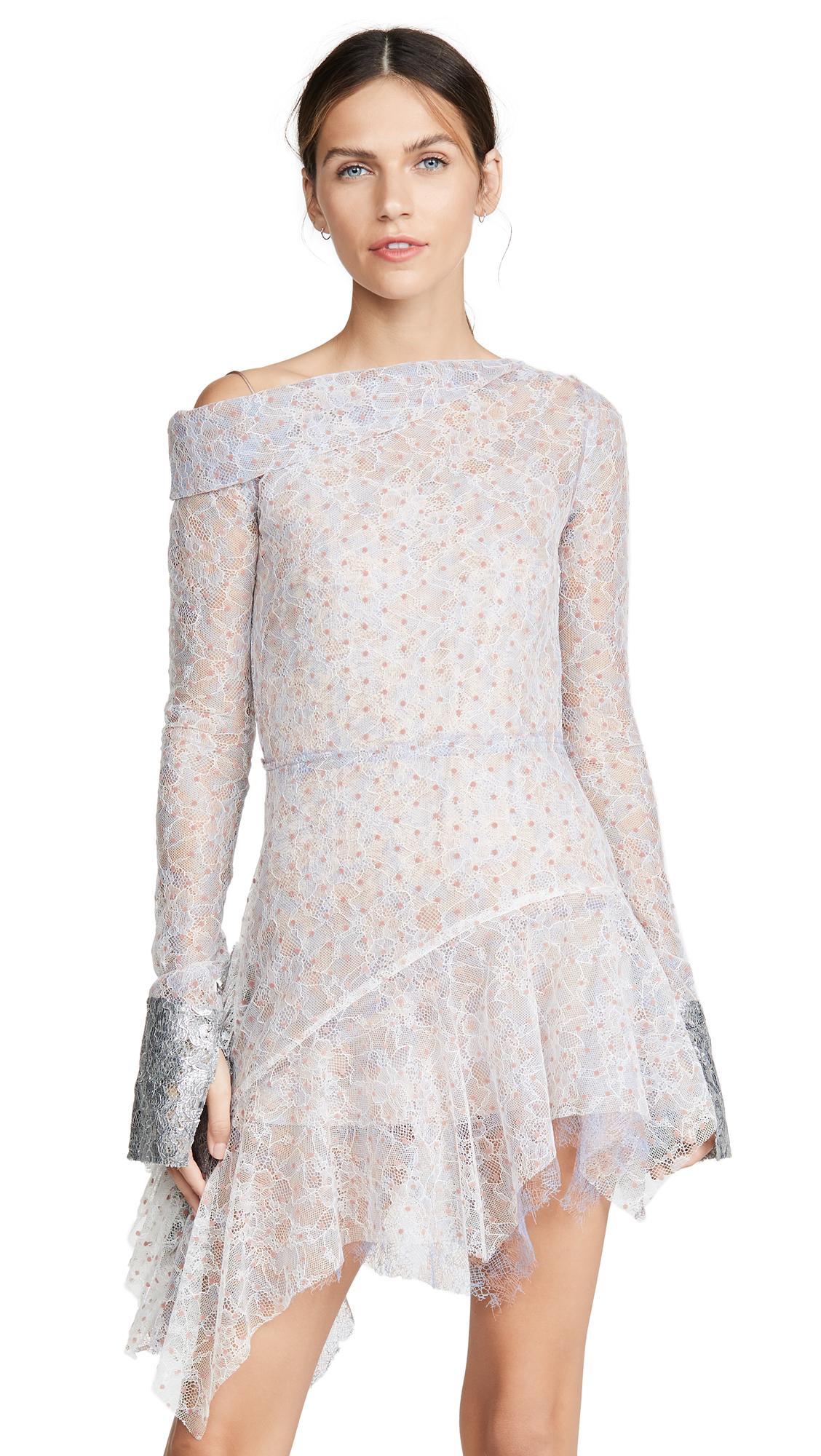 Buy Anais Jourden online - photo of Anais Jourden Duo Lace Mini Dress