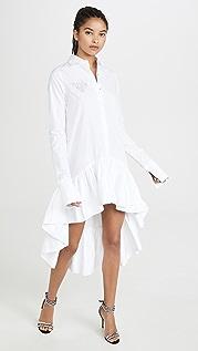 Anais Jourden 白色书法图案衬衣连衣裙