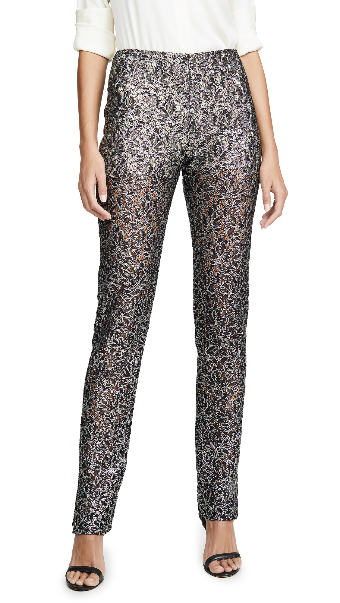 Buy Anais Jourden online - photo of Anais Jourden Coated Lace Pants