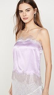Anais Jourden 淡紫色真丝缎面吊带背心
