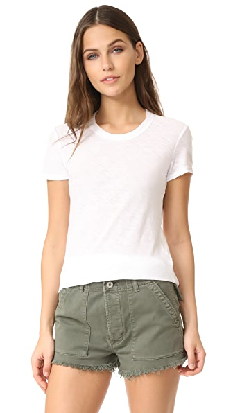 James Perse Sheer Slub Crew Neck Tee - White