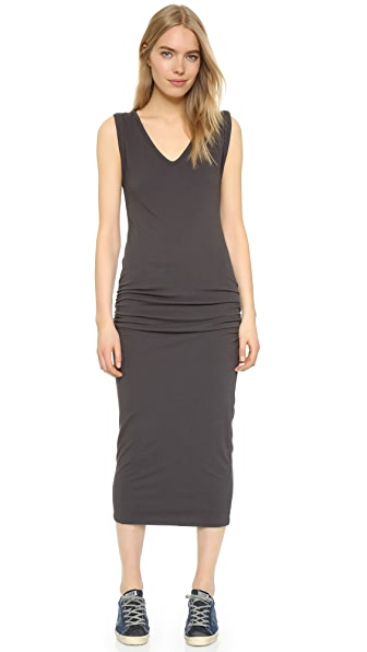 James Perse Twisted Sleeve Tube Dress