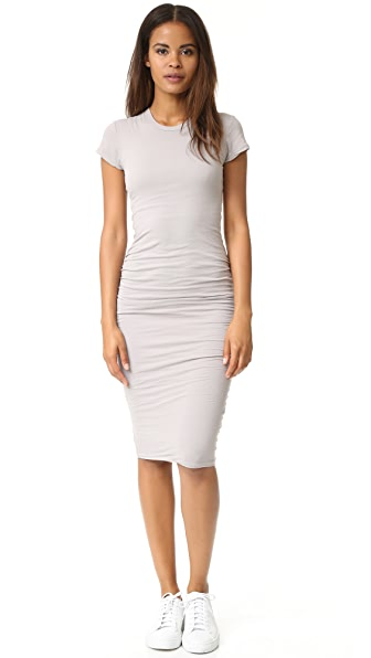 James Perse Short Sleeve Skinny Dress