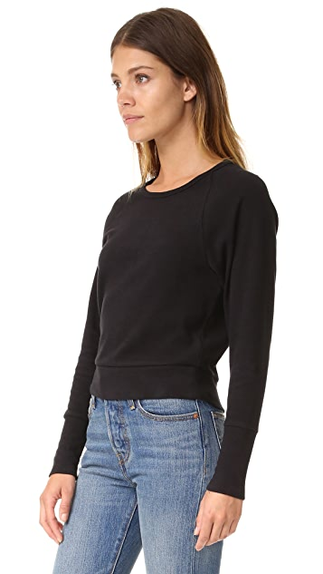 James Perse Fleece Dolman Raglan Top