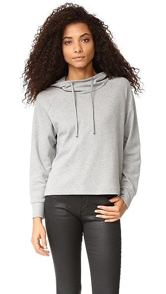 James Perse Объемный пуловер с капюшоном