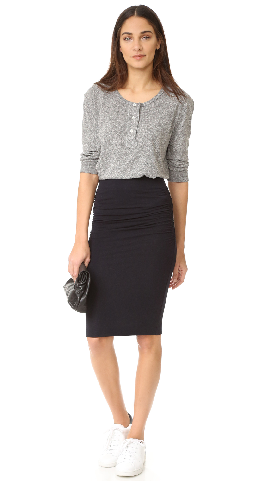 ccdf49d84 James Perse Double Shirred Skirt | SHOPBOP