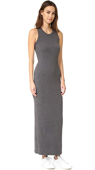 James Perse Sleeveless Pocket Maxi Dress - Heather Charcoal