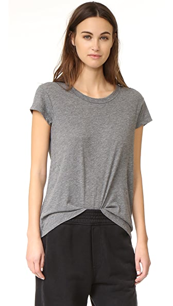 James Perse Straight Hem Tee - Coal Melange