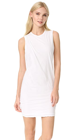 James Perse Tucked Shift Dress