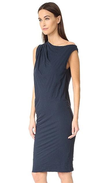 James Perse One Shoulder Draped Dress