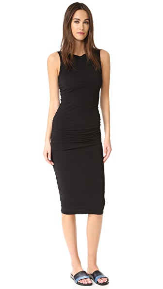 James Perse Open Back Skinny Dress - Black