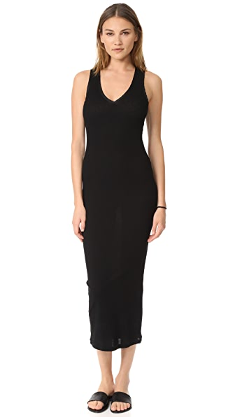 James Perse Satin Binding Tubular Dress In Black