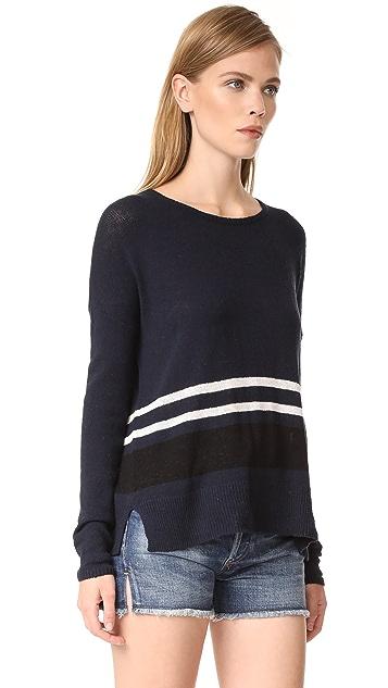 James Perse Stripe Oversize Crew Sweater