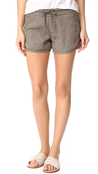 James Perse Drawstring Dolphin Shorts
