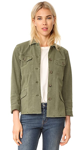 James Perse Easy Fit Surplus Jacket In Fatigue Green