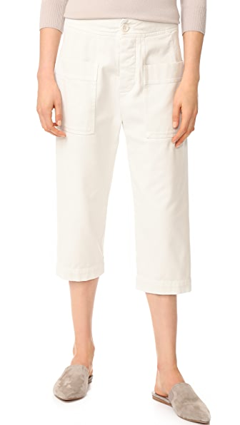 James Perse Cropped Work Pants - Canvas