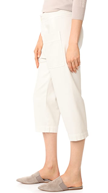 James Perse Cropped Work Pants