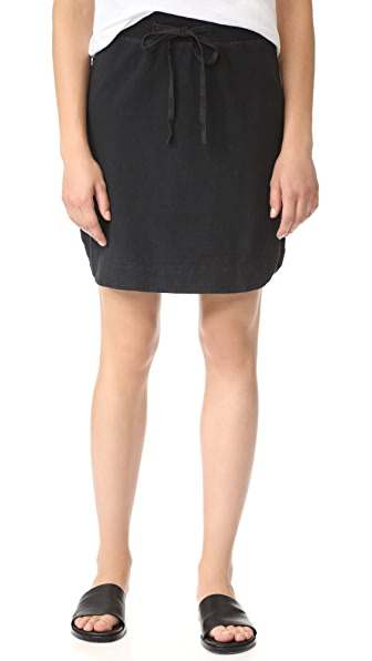 James Perse Pull On Fleece Skirt In Carbon