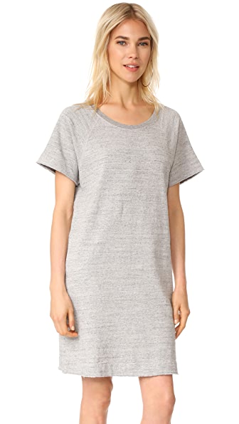 James Perse Heathered Dress In Heather Grey
