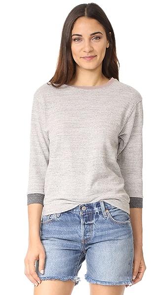 James Perse Shrunken Contrast Sweatshirt