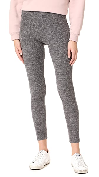 James Perse Contrast Stretch Leggings - Charcoal