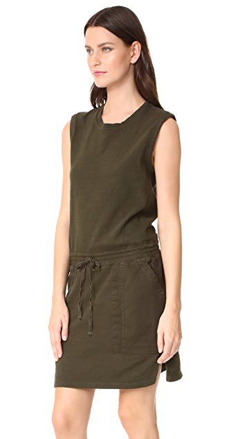 James Perse Contrast Sweatshirt Dress