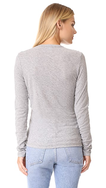 James Perse Long Sleeve Crew Tee